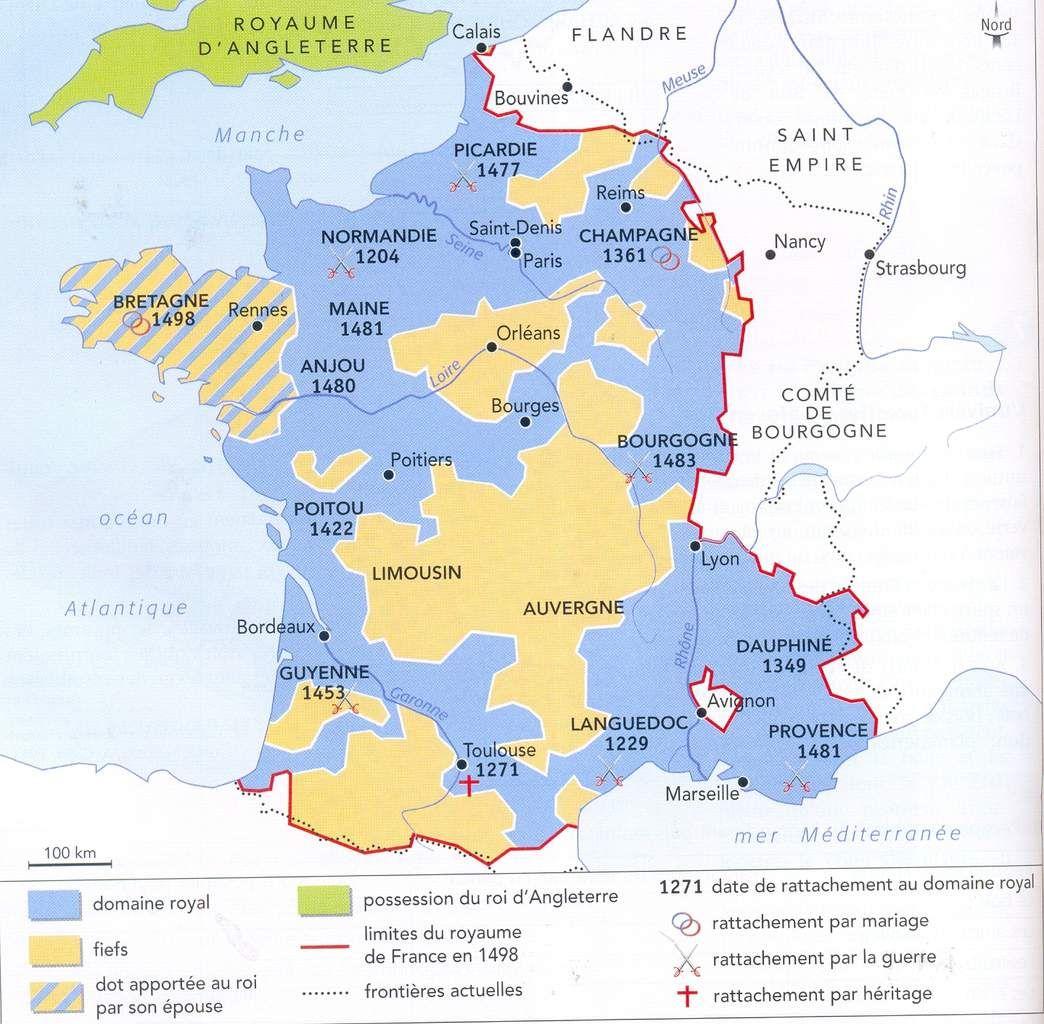Le Royaume De France A La Fin Du Xv Siecle Royaume De France
