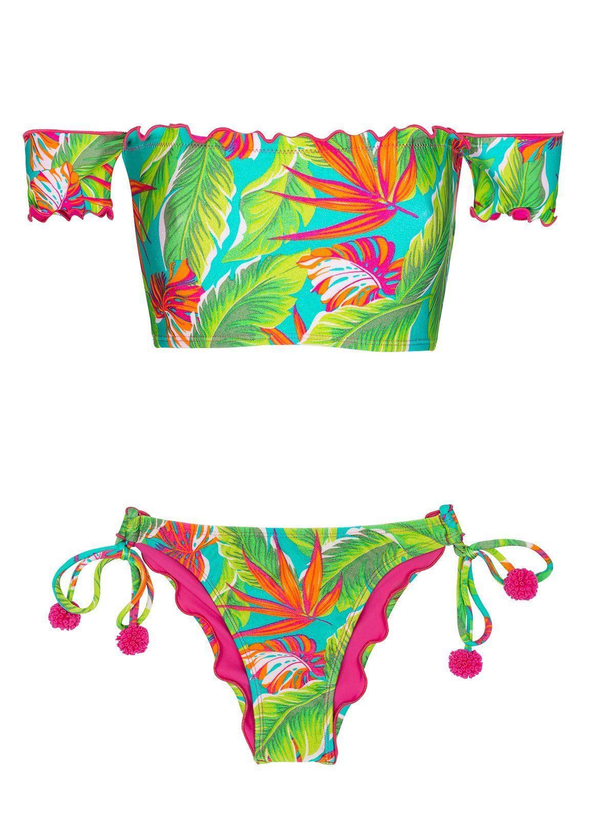 2574861cf21 ... de Sol Brazilian Bikinis by Rio Swim Shop Swimwear. Paradise Green Off  Shoulder