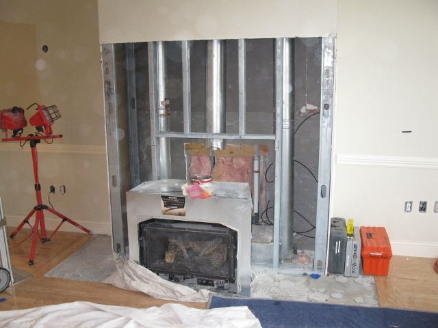 Removing A Gas Fireplace Gas Fireplace Makeover Gas Fireplace