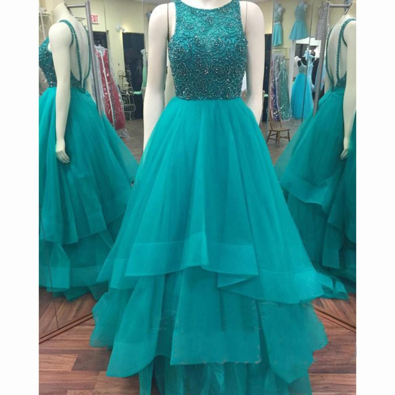 Backless turquoise prom dress backless prom dress sexy prom