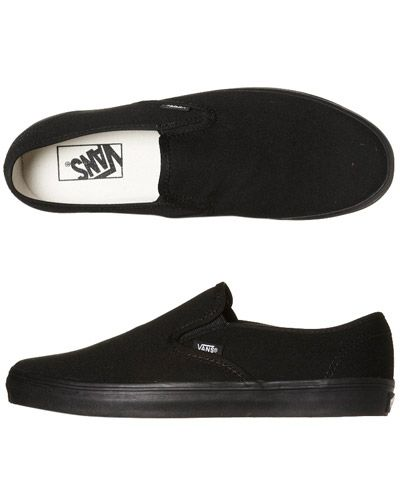 vans mens shoe black