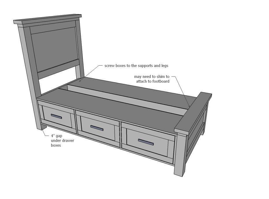 Best Farmhouse Storage Bed With Drawers Twin And Full Bed With Drawers Toddler Bed With Storage 640 x 480