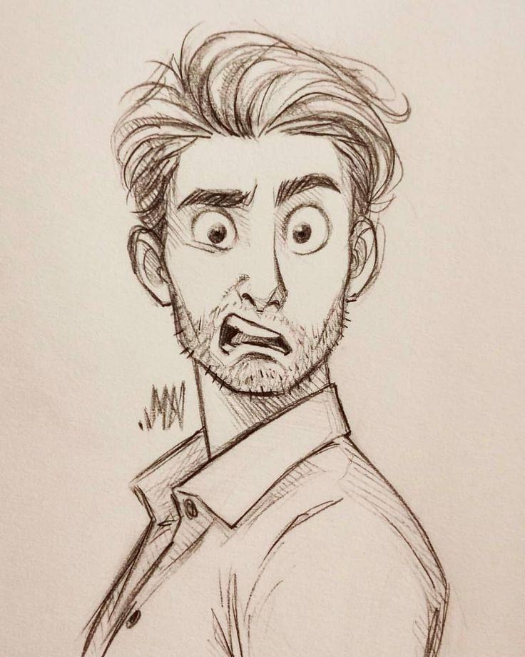 Ja, ich male genauso Männer. meine Wenigkeit poste sie mühelos nicht so oft. #skizzieren #Gek… – Face Drawing