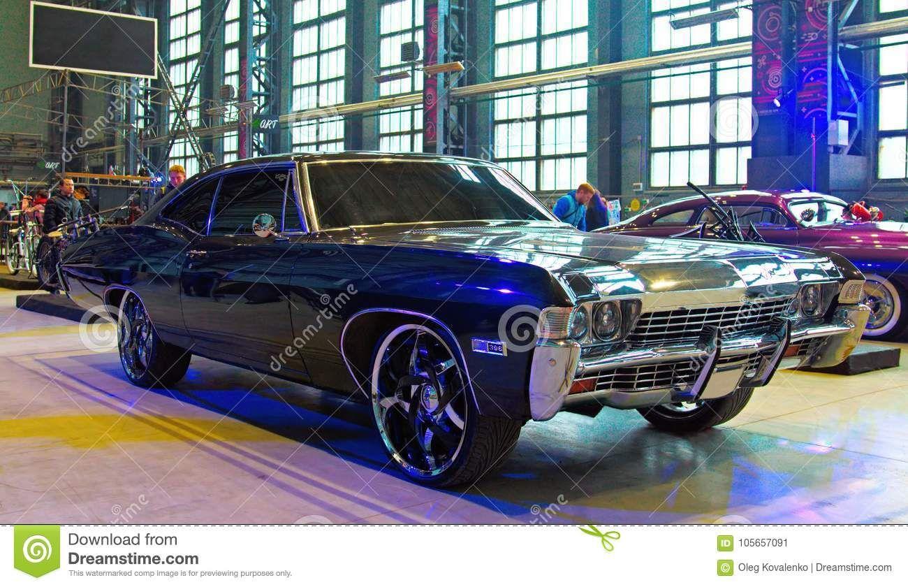 American Car Chevrolet Impala on Custom & Tuning Show. Russia, St ...