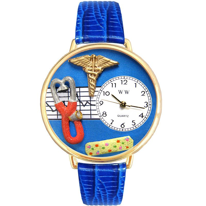 Whimsical Watches Personalized Nurse Womens GoldTone