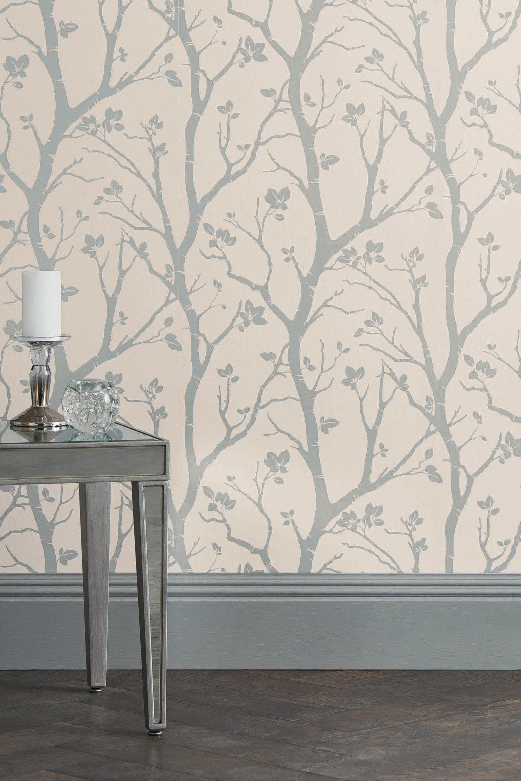 Buy Paste The Wall Silver Woods Wallpaper From The Next Uk On