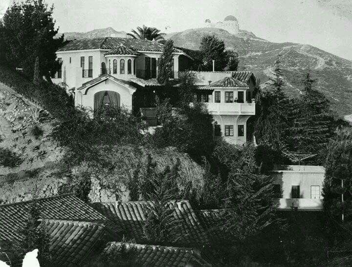 1938 Hollywood mansion with Griffith Park in the background ...