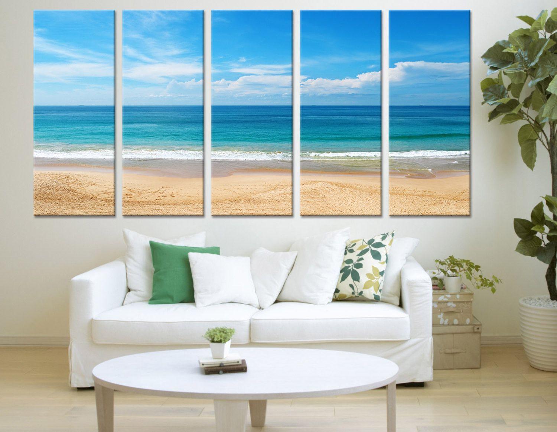 Ocean View Wall Art Sea And Beach Canvas Print Mc168 Pinturas