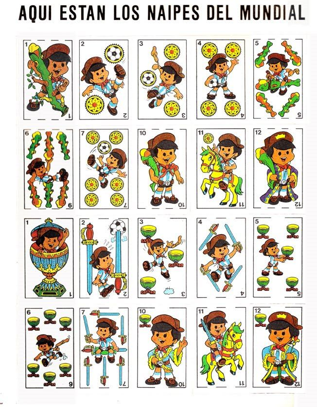 Album De Figuritas Mundialito Carteles De Futbol Baraja De Cartas Cartas Naipes