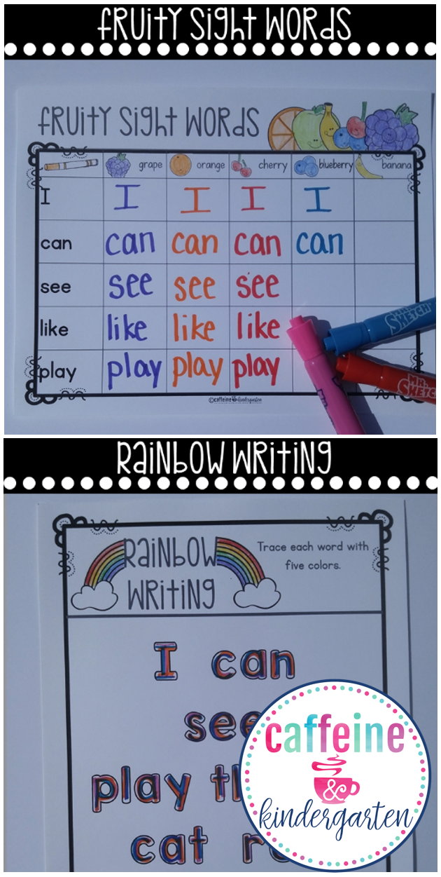 Sight Words Worksheets - Editable Word Work Practice | Daily 5 ...