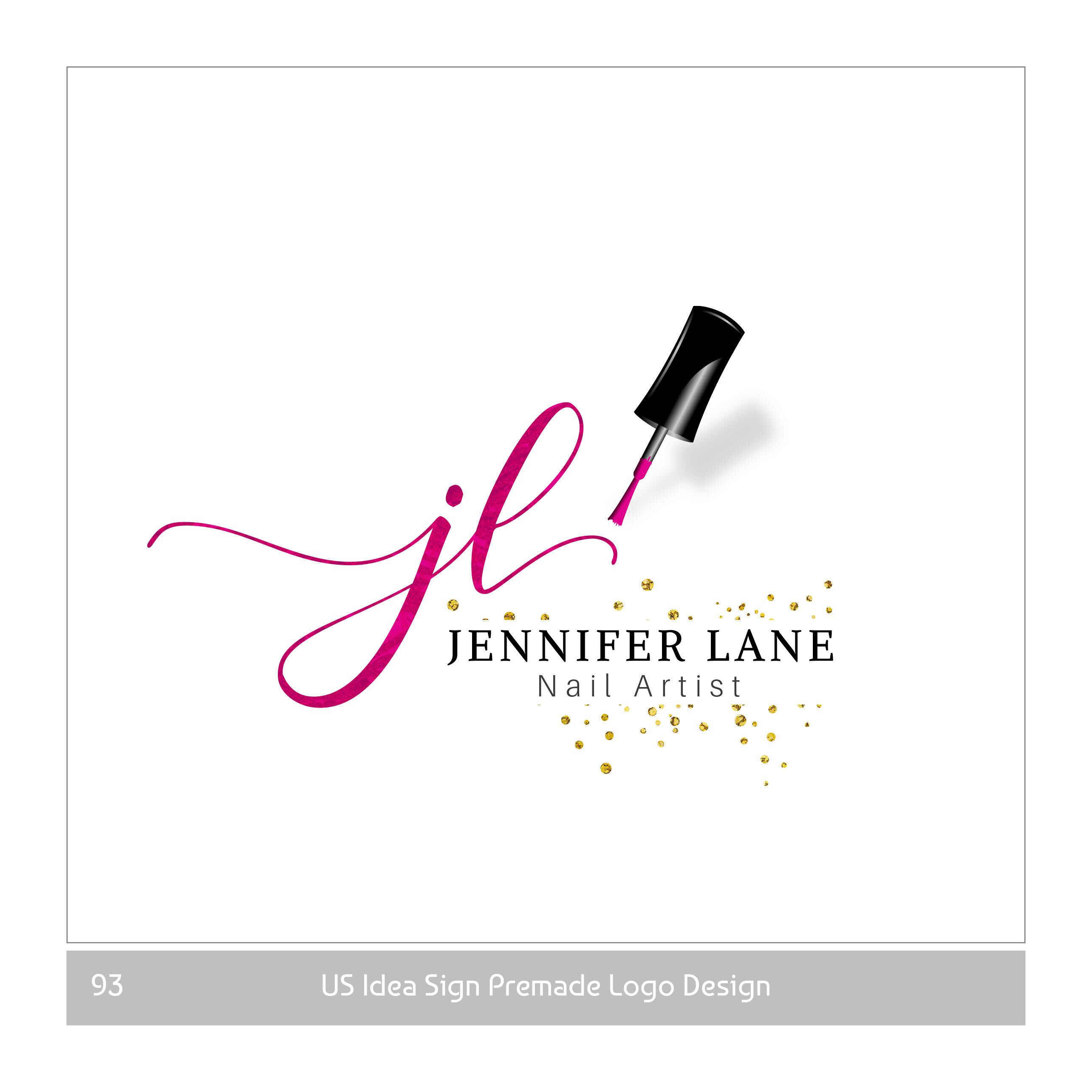 Premade Beauty Logo And Nail Artist Logo For Makeup Artist And