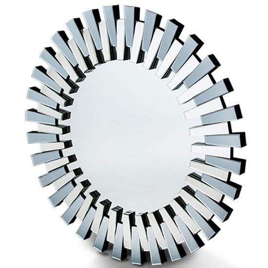 AICO Montreal Round Facet Mirror By Michael Amini