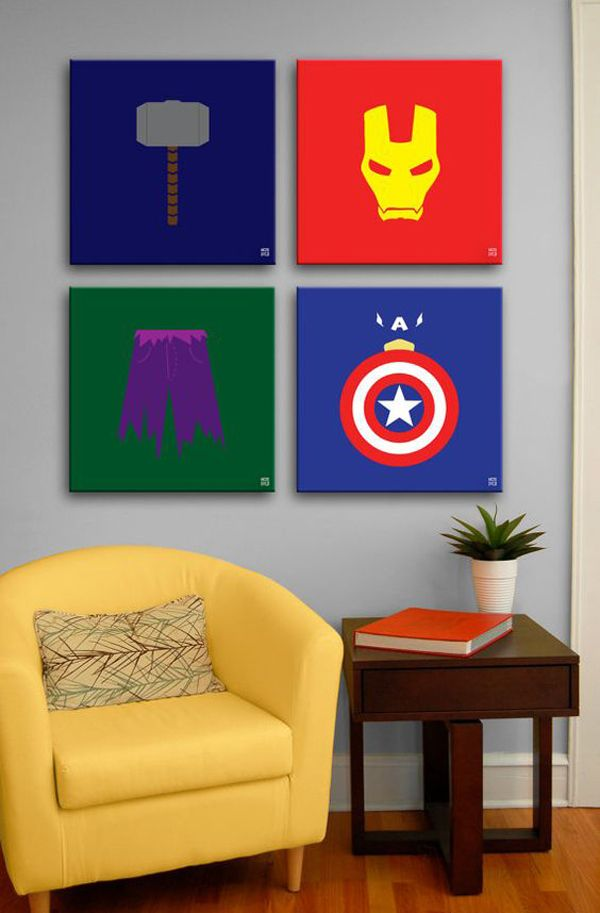 10 Best Marvel Avengers Wall Decor Ideas | Home Design And ...