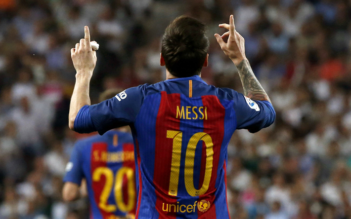 Download wallpapers Lionel Messi, LM10, Barcelona FC, Catalonia, Spain, football, Argentine football player, Leo Messi
