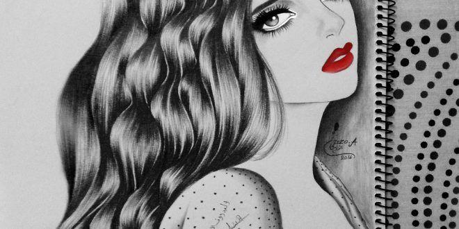 رسمة Zezo Alrawi طفرة جوز Female Sketch Art Female