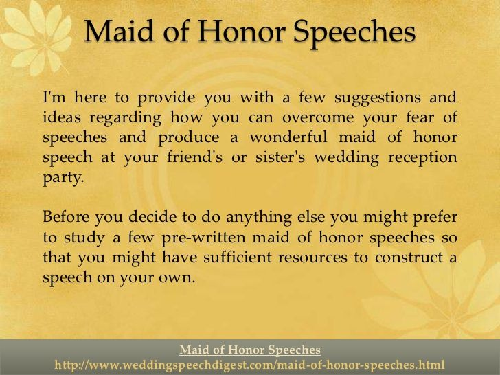 Maid of honor toast examples sister