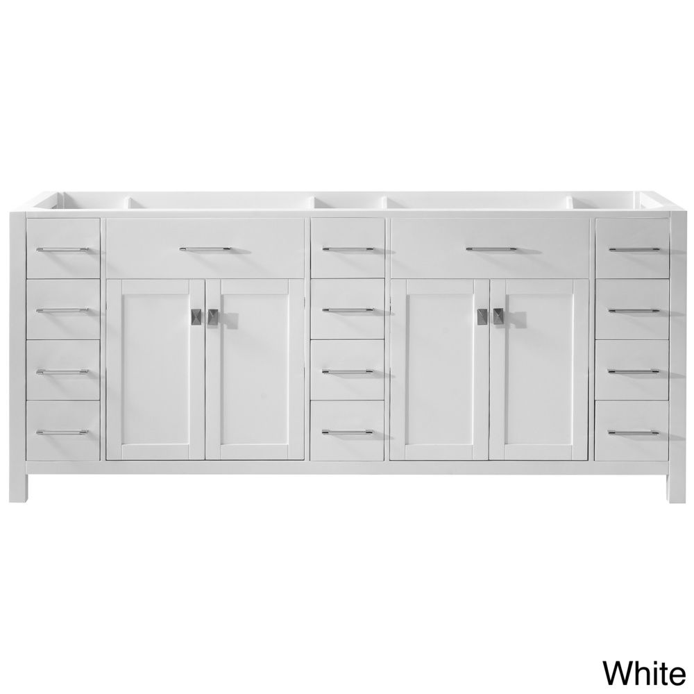Shopping for bathroom vanities - Caroline Parkway 78 Inch Double Sink Bathroom Vanity Cabinet Overstock Shopping Great