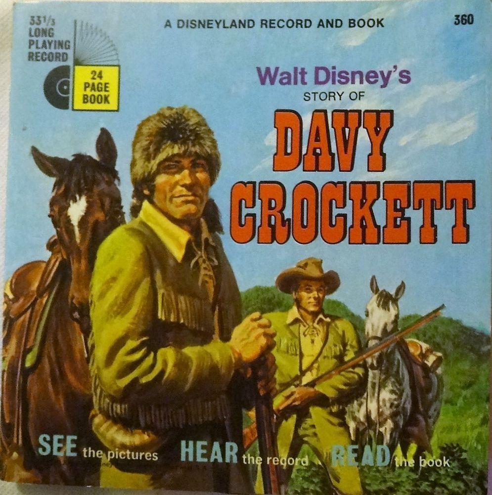 "1971 Davy Crockett 33RPM ""Read Along"" Book & Record by DISNEYLAND  #Classical"