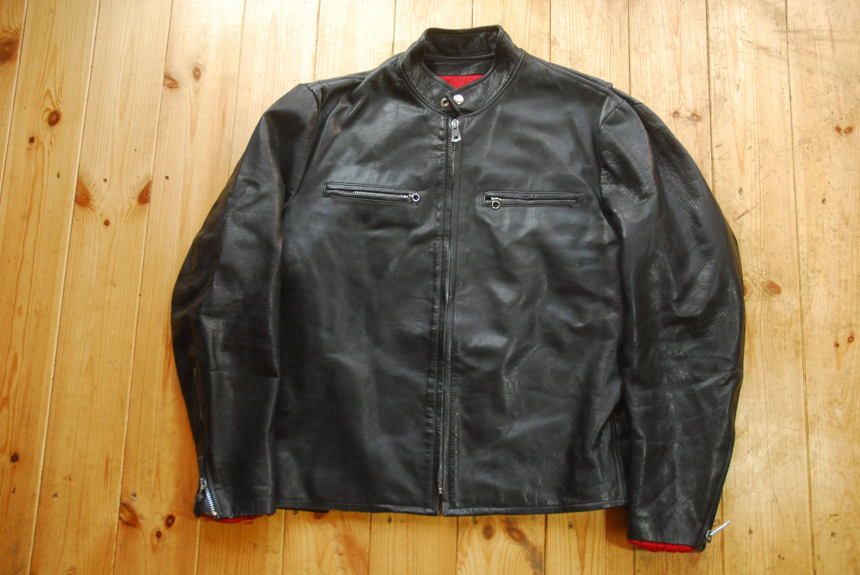 Vintage 1970 S Black Leather True Cafe Racer Biker Jacket Etsy Vintage Leather Jacket Biker Jacket Jackets [ 2008 x 3000 Pixel ]