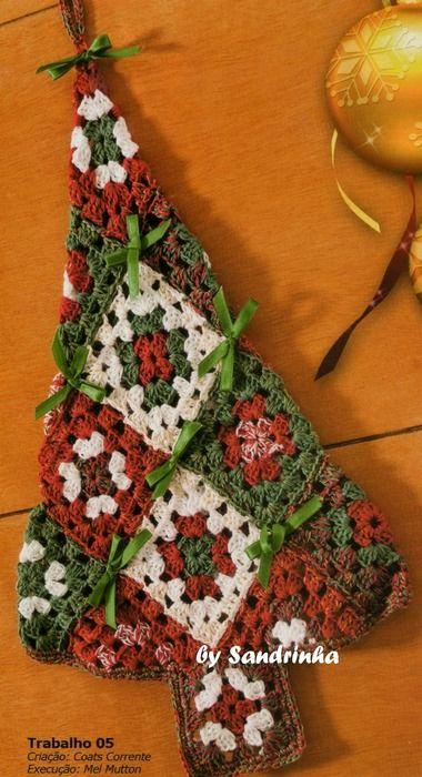 Ideas Ljguu Pinterest Granny squares, Christmas tree and