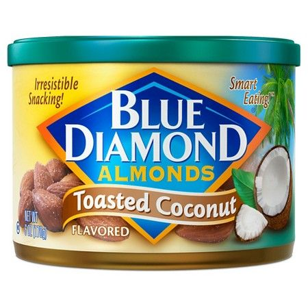 Blue Diamond Toasted Coconut Almonds 6 oz : Target