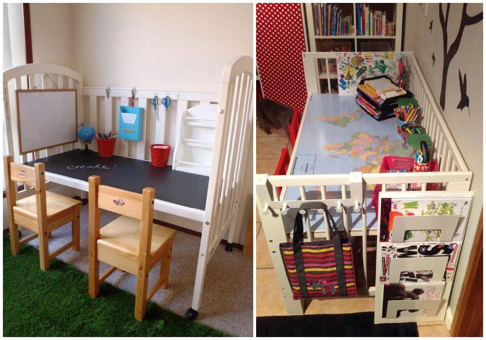 Aprovecha cada pieza de una cuna para crear otros muebles for Muebles para reciclar