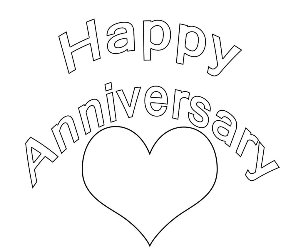 Happy Anniversary Coloring Pages Coloring Pages Happy Anniversary Birthday Coloring Pages