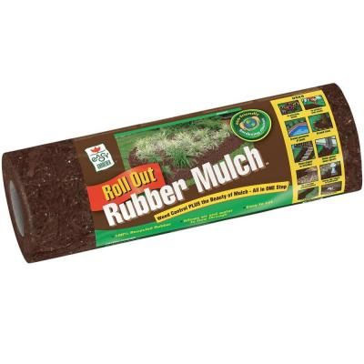 Easy Gardener 12 Sq Ft Roll Out Brown Rubber Mulch Pm26300 4 The Home Depot Rubber Mulch Mulch Rubber Walkway