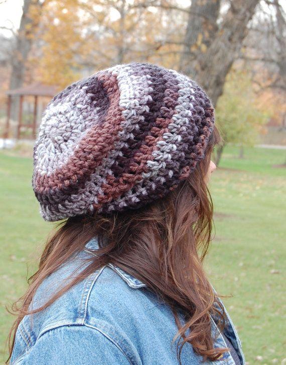 Slouchy Beanie häkeln Hüte für Frauen Damen Mode von 144Stitches ...