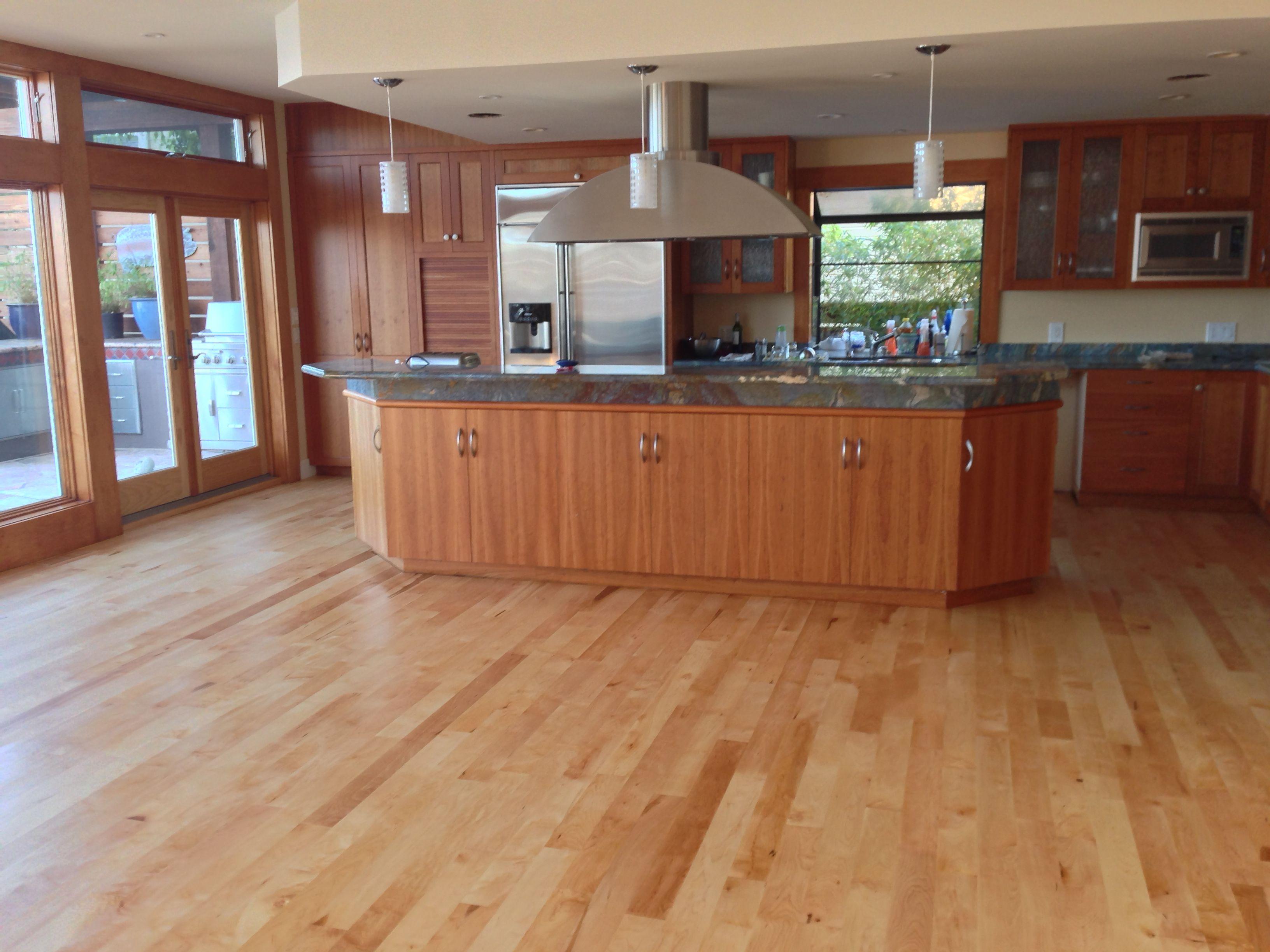JOB WE INSTALLED Maple select Hardwood Flooring Finished