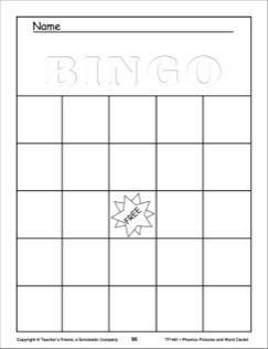 Blank bingo cards printables pinterest blank bingo cards blank bingo cards spiritdancerdesigns Gallery