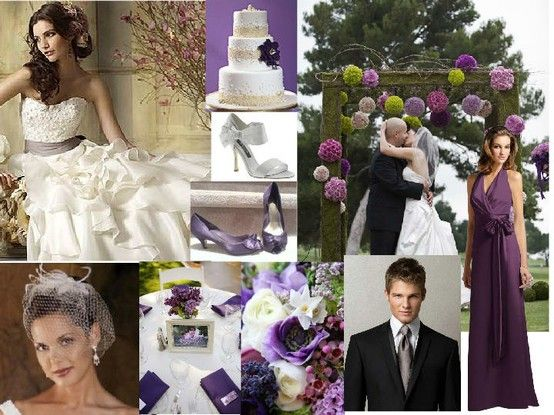 Purple, gray and green wedding - Click image to find more Weddings Pinterest pins