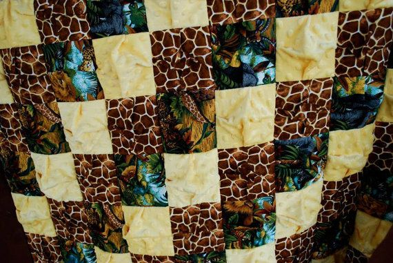 Jungle safari bubble quilt.   I can now personalize the borders!!  Available on Etsy!