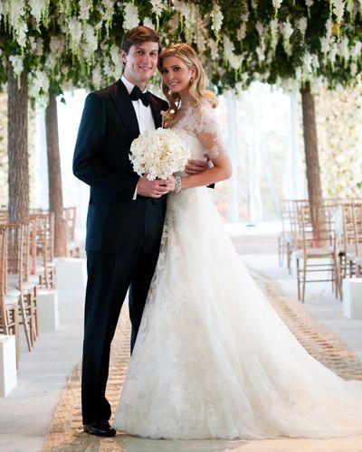 Ivanka Trump und Jared Kushner | prominente in ihren brautkleider ...