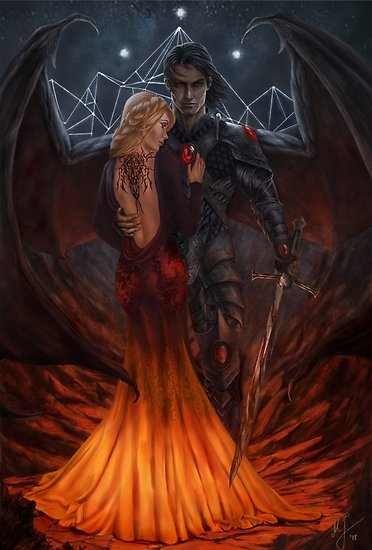Nesta & Cassian / Characters inspired by A court of thorns and roses series by Sarah J Maas • Millions of unique designs by independent artists. Find your thing.