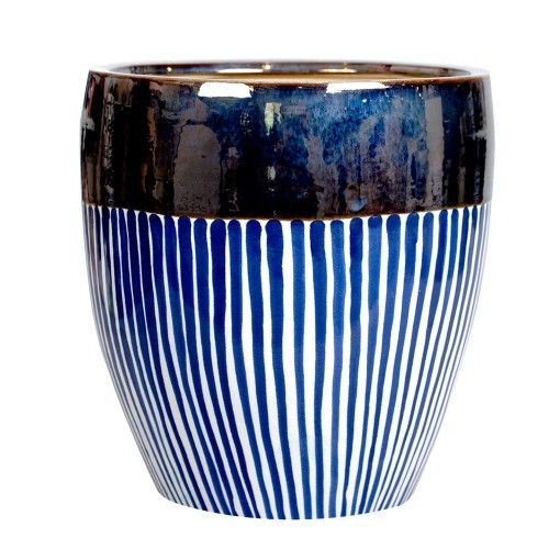 Hand Decorated Vase Painted In Original Set Of Colours A Miou Has Chosen It To Its Collection Thinking Of All Of Those Who Don T Like Banal E Westwing Ubertopf