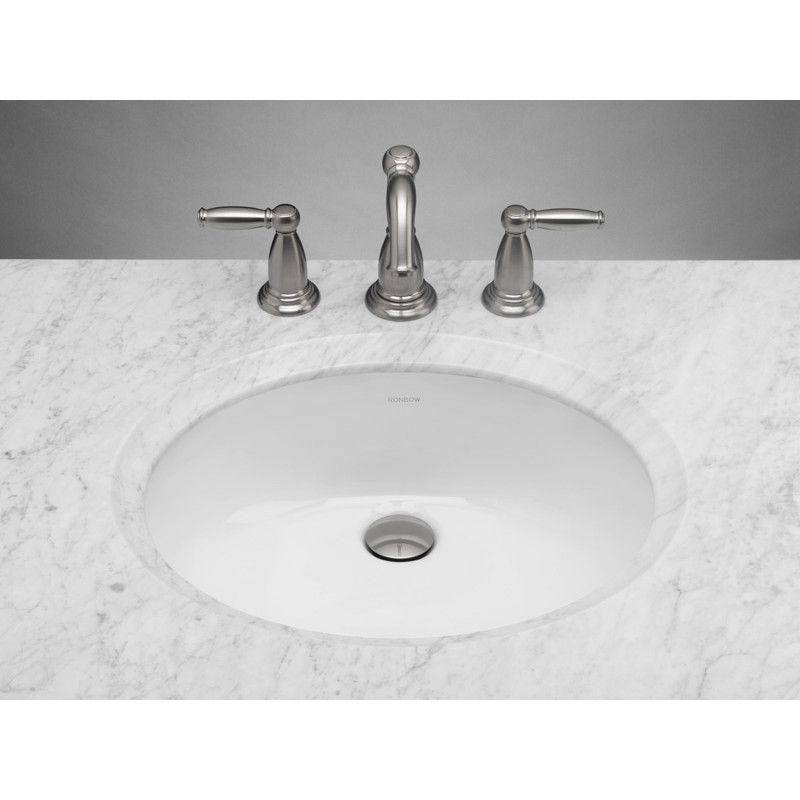 Halo Ceramic Oval Undermount Bathroom Sink With Overflow Ronbow