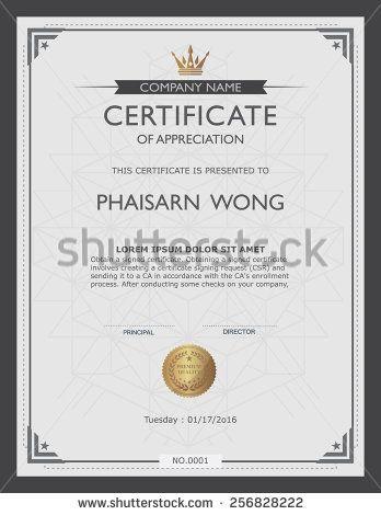 certificate template and element Art Idea Pinterest - blank stock certificate template free