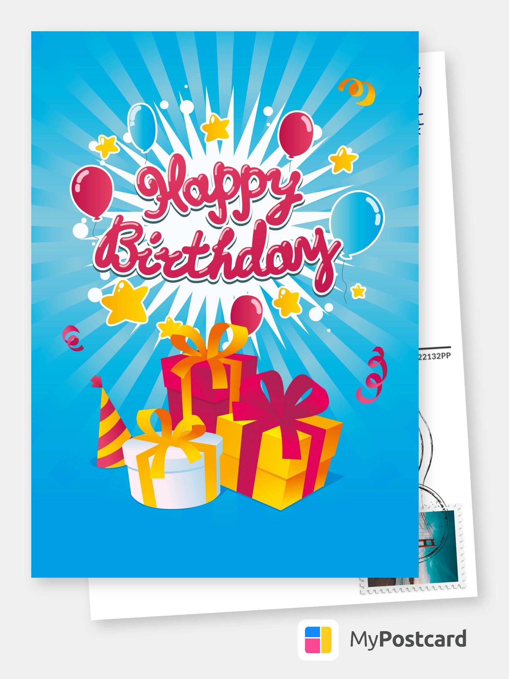 Create Your Own Happy Birthday Cards Free Printable Templates Printed Mailed For You Photo Cards Photo Postcards Greeting Cards Online Sevice Postc Happy Birthday Greetings Friends