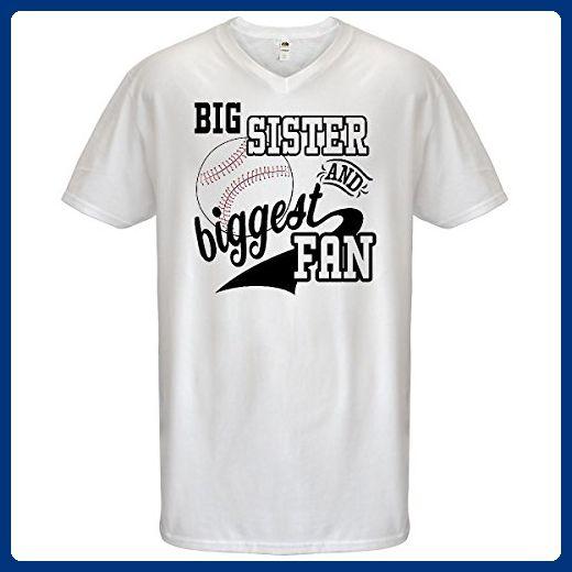 8935dba4 Inktastic - Big Sister and Biggest Fan- Men's V-Neck T-Shirt Medium White -  Sports shirts (*Amazon Partner-Link)