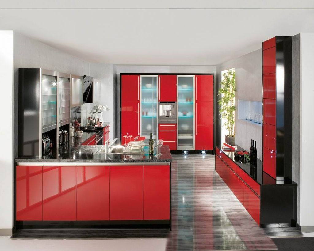 70+ Red Lacquer Kitchen Cabinets - Kitchen Cabinets Update Ideas On ...