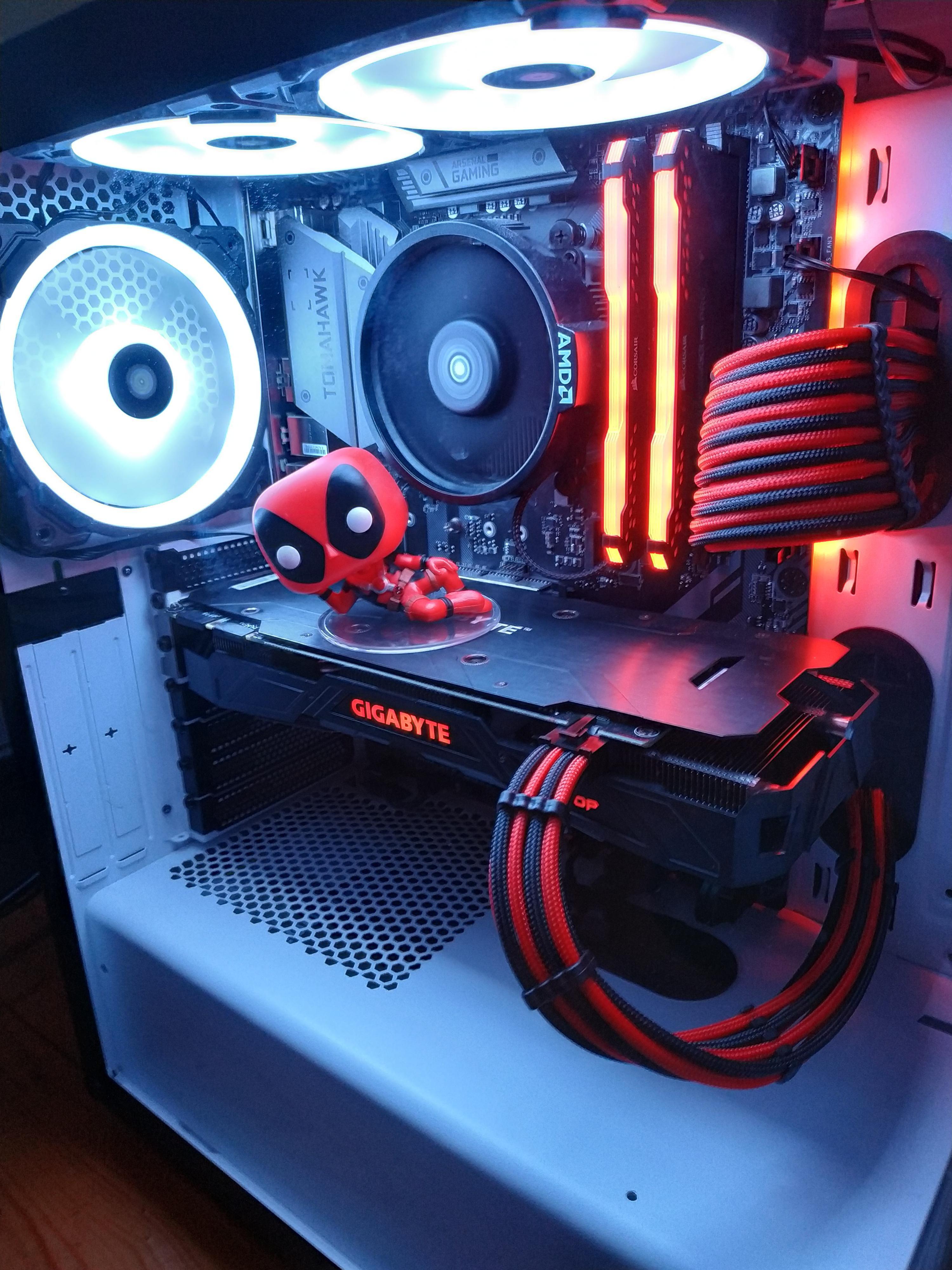 My Deadpool Themed Build Pcmasterrace Custom Computer Best