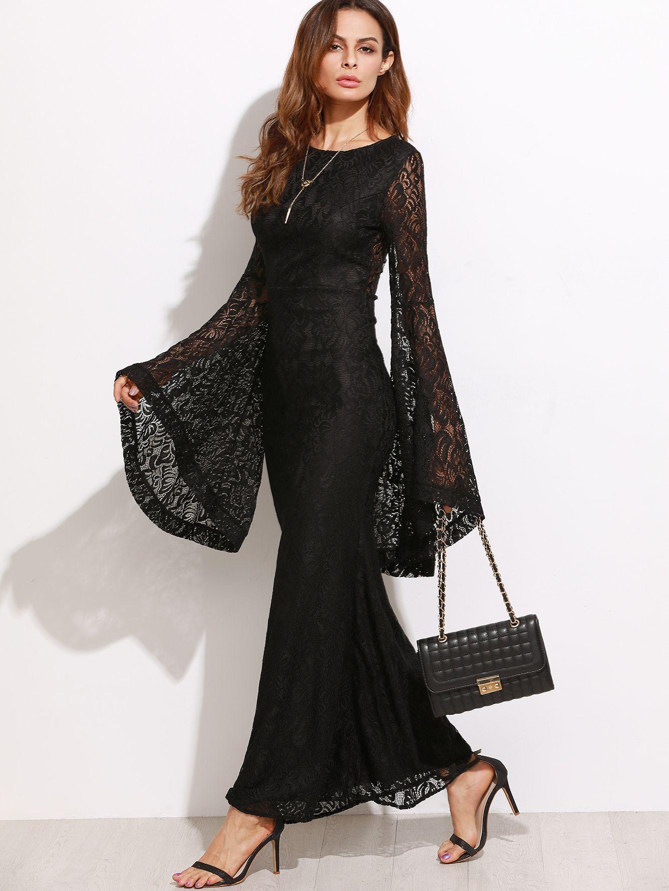 Pin By Vivi V On Hijab Abayas Fashion Lace Dress Long Black Maxi Dress Floral Lace Maxi Dress