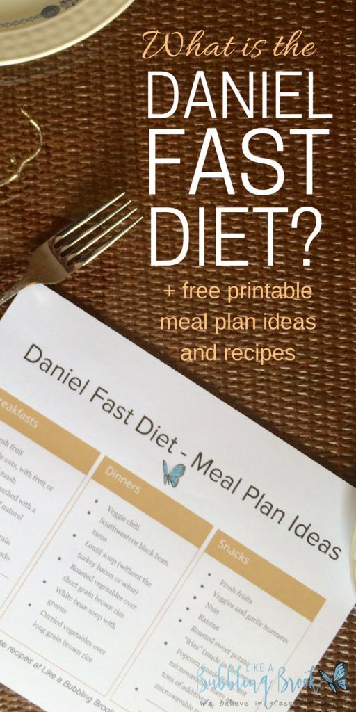 What is the Daniel Fast Diet? + Meal Plan Printable #fastrecipes