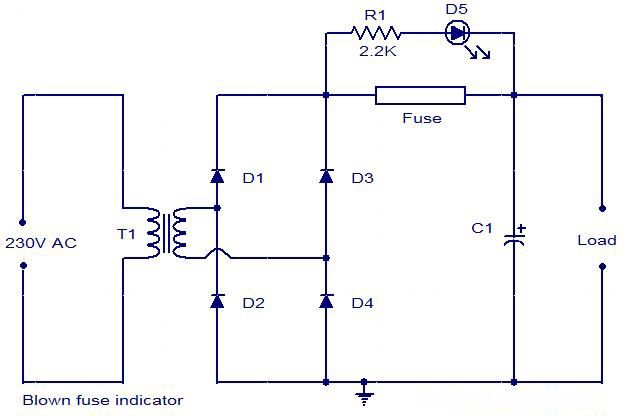 BlownFuse indicator circuit is a type of low resistance resistor