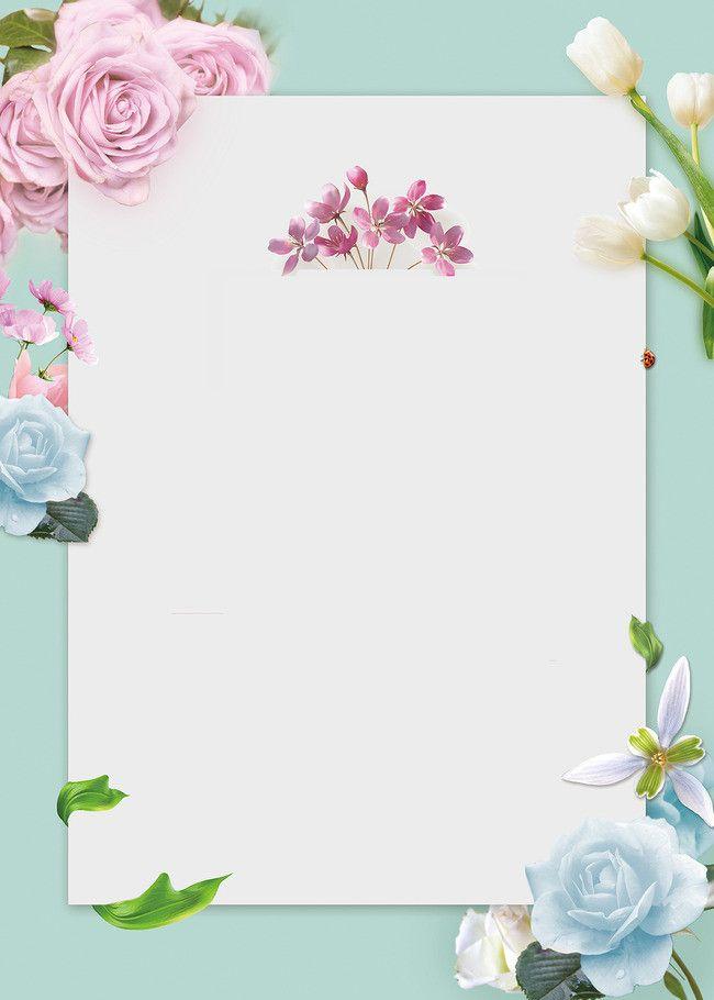 Background Color Fresh H5 Flower Frame Colorful Backgrounds Flower Border