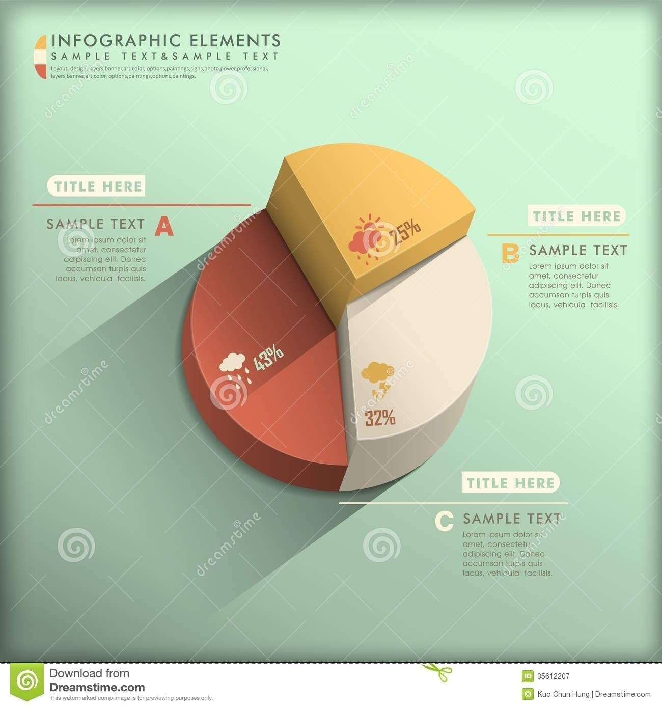 Abstract 3d Pie Chart Infographics Stock Vector Illustration Of For Pie Chart Design 3d21935 Chart Infographic Infographic Data Visualization Infographic