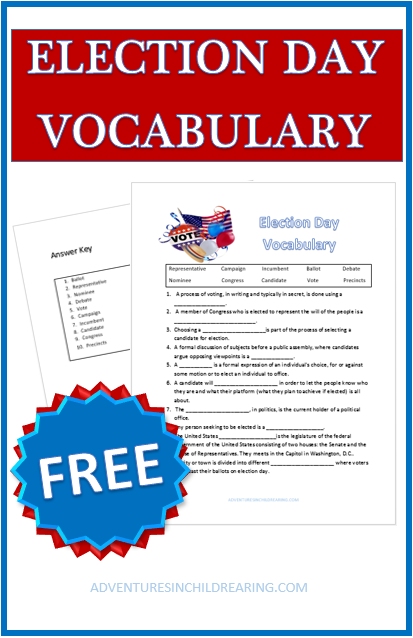 Download your FREE Election Day Vocabulary sheet to learn & review ...