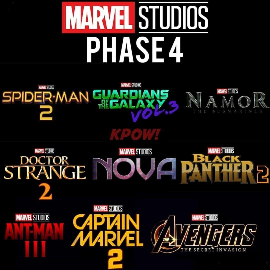 Marvvel Phase 4 Prediction Marvel Pinterest Marvel Marvel Dc