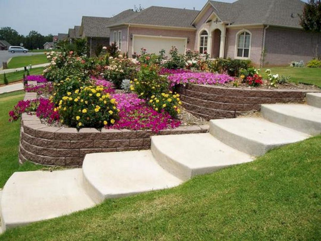 24 Small Sloped Backyard Landscaping Ideas for Best ... on Small Sloped Backyard Ideas On A Budget  id=35646